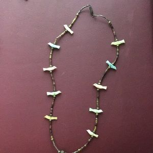 Little birds beaded necklace.